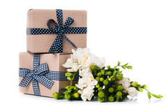 2 handmade коробки Стоковая Фотография