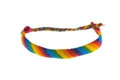 Handmade красочный браслет гомосексуалист-лесбиянки стоковая фотография