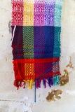 Handmade красочный шарф Стоковое Изображение