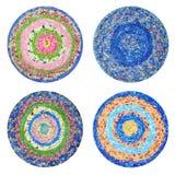 handmade круглые половики стоковое фото rf