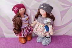 Handmade кукла с естественными волосами Стоковые Изображения RF