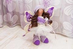 Handmade кукла с естественными волосами Стоковые Изображения