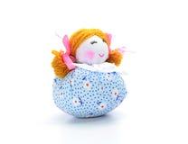 Handmade куклы ткани на белой предпосылке Стоковое фото RF