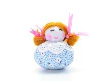 Handmade куклы ткани на белой предпосылке Стоковое Фото