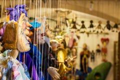 Handmade марионетки людей Праги Стоковое Изображение