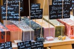 Handmade мыло в салоне красоты в Франции стоковое изображение