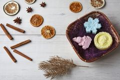 Handmade мыло как подарок Стоковые Фото
