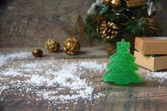 Handmade мыло как подарок Стоковое Изображение