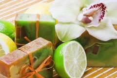 handmade мыло орхидеи стоковые фото