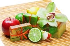 handmade мыло орхидей Стоковое Изображение