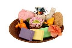 Handmade мыла с травами Стоковые Фотографии RF