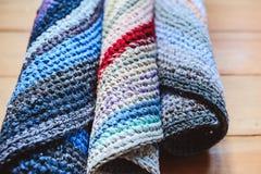 handmade набор ковров бабушек сделанный из старых используемых одежд стоковое фото rf