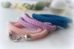 3 handmade ожерелья Стоковые Фотографии RF
