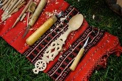 handmade ложка деревянная Стоковая Фотография