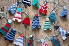 Handmade орнамент, связанная сосна, рождество, Xmas Стоковое Изображение RF