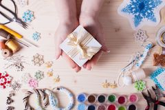 Handmade отбортовывая подготовка Стоковое Фото