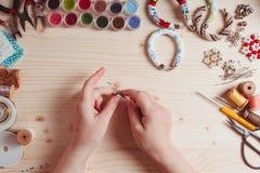 Handmade отбортовывая подготовка Стоковое Изображение