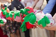 Handmade оформление pillows свадьба Стоковые Изображения