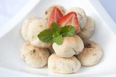 Handmade печенья клубники Стоковые Изображения
