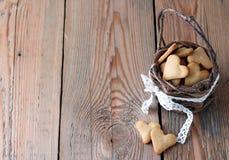 Handmade печенья сердца на день валентинки Стоковое фото RF