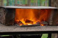 Handmade печь для нагревая пробелов металла Стоковое Фото