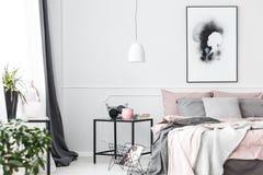 Handmade плакат на белой стене стоковое фото rf