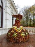 Handmade платье от товаров осени, Литва женщины Стоковые Изображения RF