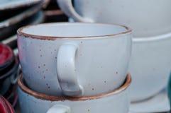Handmade покрашенная гончарня Стоковая Фотография