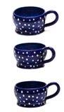 Handmade покрашенная чашка Стоковое Фото