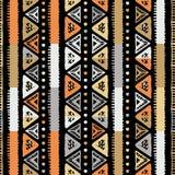 Handmade покрашенное безшовное нашивок яркое племенное бесплатная иллюстрация