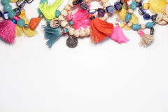 Handmade предпосылка аксессуаров составленная верхней частью Стоковые Изображения