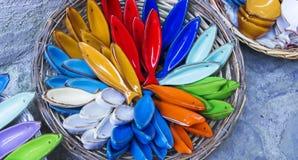 Handmade продукты в зоне Cinque Terre, Италия керамики стоковая фотография