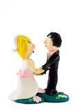 Handmade пластичная статуя свадьбы на белизне Стоковое Фото