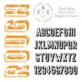 Handmade ретро шрифт Стоковое Изображение RF