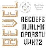 Handmade ретро шрифт Стоковое фото RF