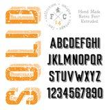 Handmade ретро шрифт Стоковые Изображения RF