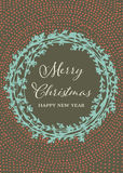 Handmade рождественская открытка Стоковые Фотографии RF