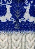 handmade свитер 2 северного оленя Стоковая Фотография RF