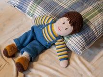 Handmade связанная кукла Стоковое Фото