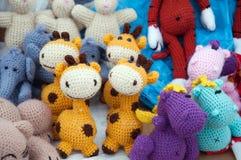 handmade связанные мягкие игрушки Стоковое фото RF
