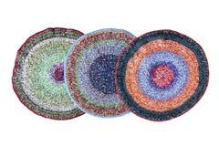 3 handmade связанных половика стоковые изображения rf