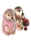 Handmade семья игрушки hedgehog Стоковое Фото