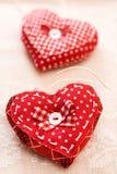 Handmade сердца на день Валентайн Стоковое Изображение RF