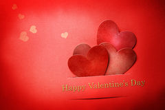 Handmade сердца валентинки бумажного ремесла Стоковая Фотография