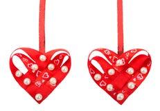 2 handmade сердца Стоковое Изображение RF
