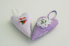 2 handmade сердца Стоковое Фото