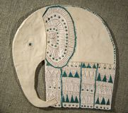 Handmade слон глины Стоковая Фотография