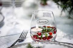 Handmade стекло с свечкой Стоковые Изображения