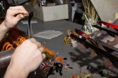 Handmade стеклянные творческие figurines стекла ручной работы Стоковые Фотографии RF