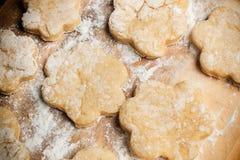 Handmade сырцовые печенья Стоковые Изображения